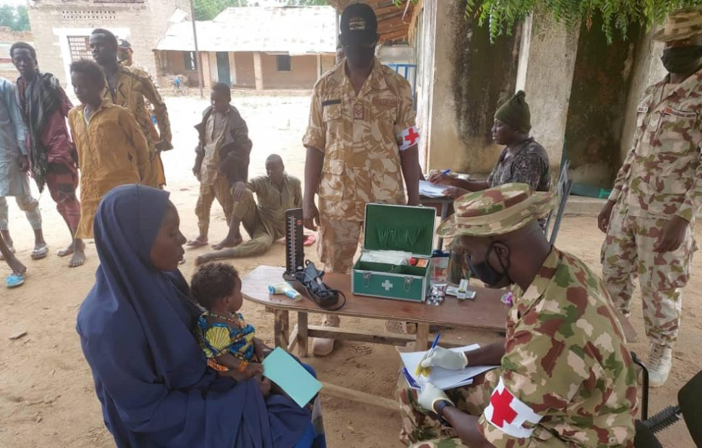Troops profiling the Boko Haram members after they surrendered