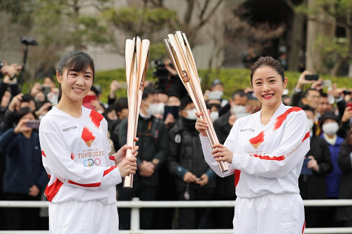 okyo Olympic torch: now in Tokyo ahead of the start of Olympic games