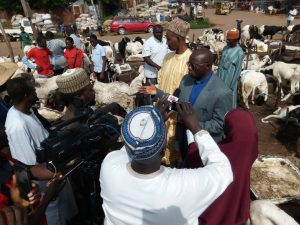 Pastor and other clerics during the visit