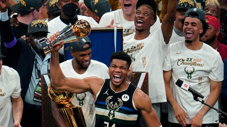 Giannis Antetokounmpo has produced a performance for the ages to lead the Milwaukee Bucks to their first NBA title since 1971