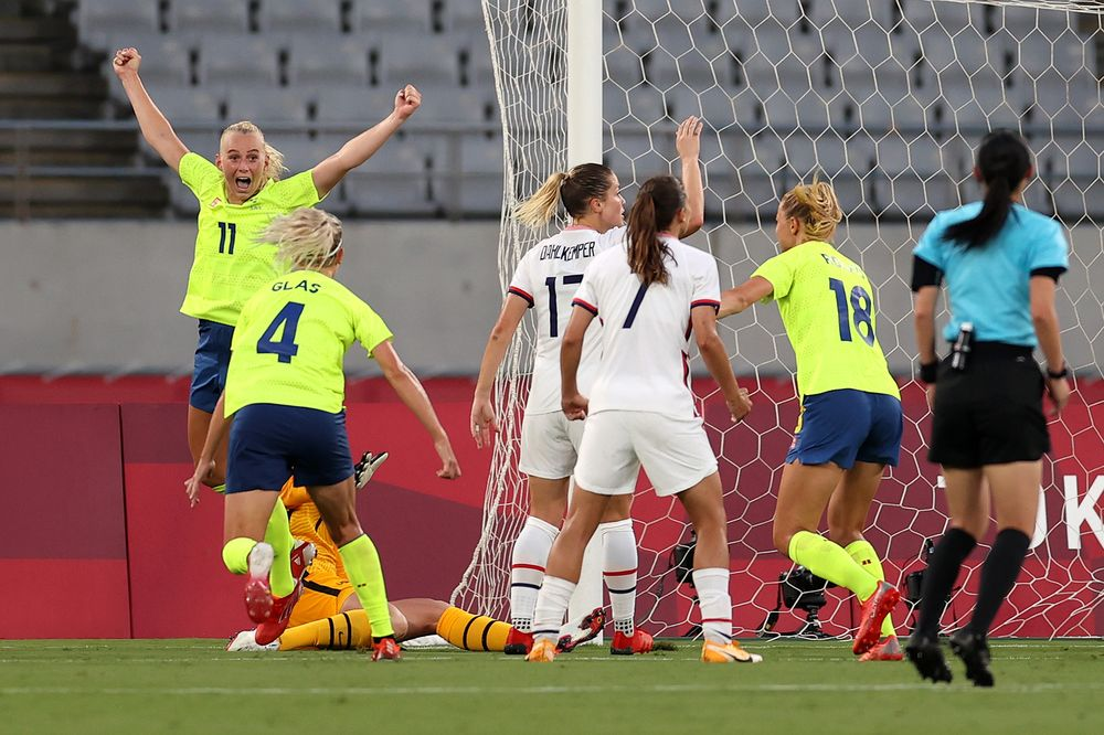 Sweden defeat USA in Olympic match
