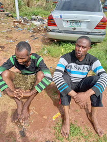 Alika and Suleman: the alleged kidnapper and his accomplice
