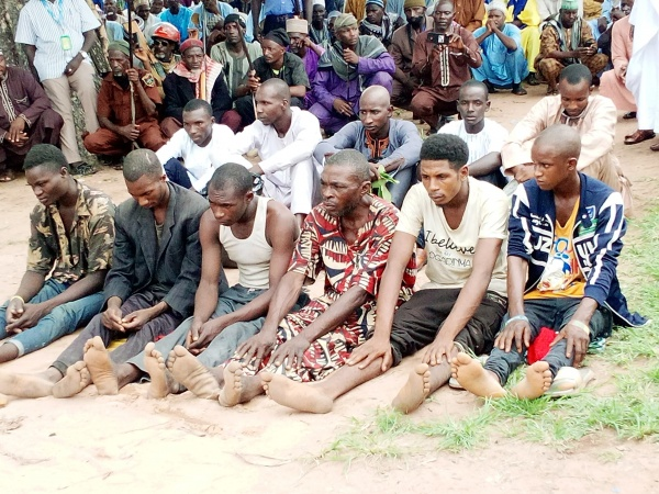The suspects handed over to Taraba Police Command by Miyetti Allah