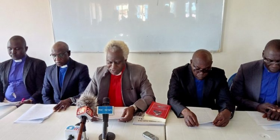Most Rev. Moses Ebuga and other CAN leaders during their press conference