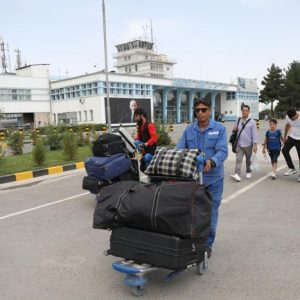 Afghans fleeing Afghanistan after takeover of Kabul by millitants