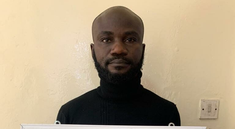 Babatunde : arrested for duping fraudsters of N38m