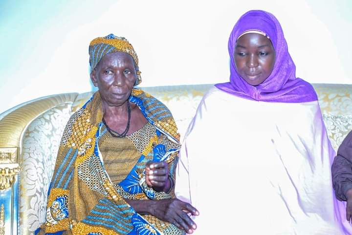 Surrendered Chibok girl, Ruth Pogu, and her mother