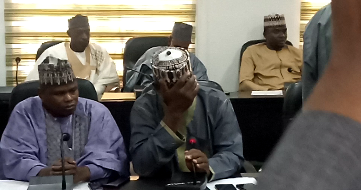 One of the lawmakers sleeping during the plenary of Katsina House of Assembly on Monday over worsening insecurity in the state