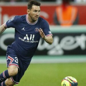 Lionel Messi: made his Paris Saint-Germain (PSG) debut as a second-half substitute on Sunday at Reims,