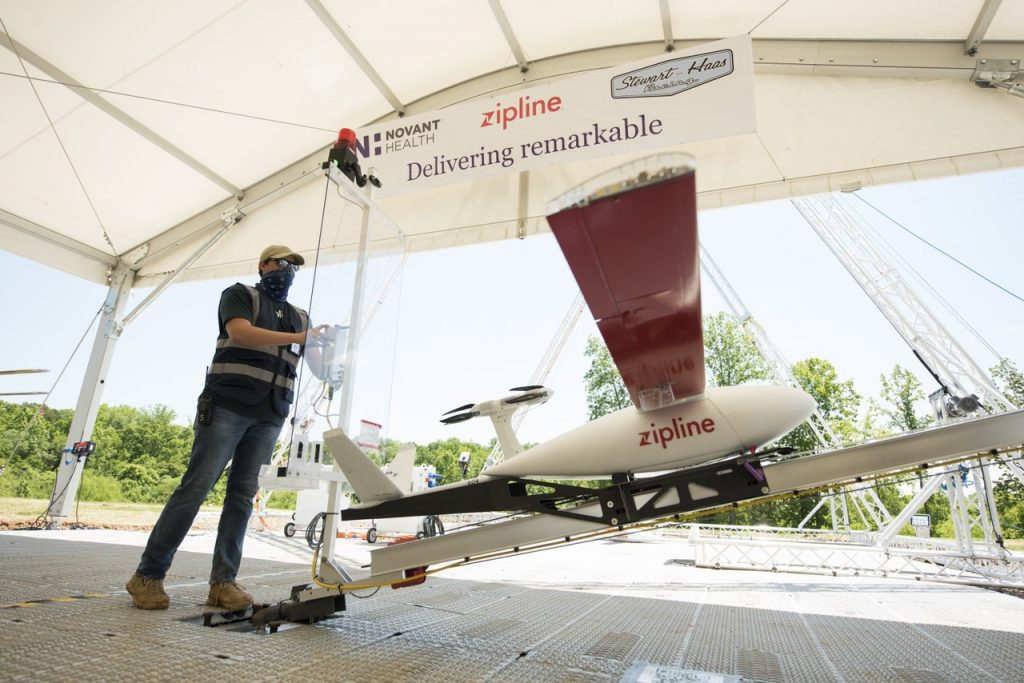 Zipline launches largest medical supply drone delivery network