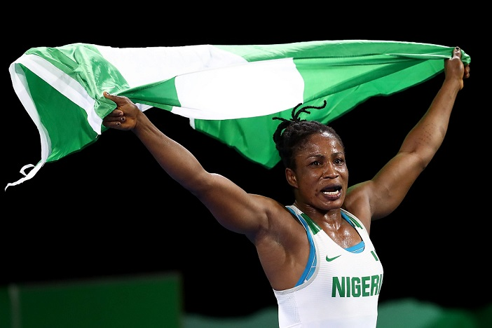 Blessing Oborududu: wins silver medal in the women's freestyle 68kg event in the Tokyo Olympics wrestling competition