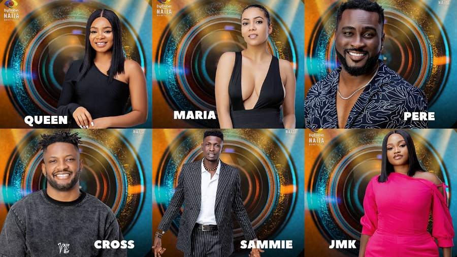 BBNaija: Maria, Pere, Queen, Cross, Sammie and JMK nominated for eviction