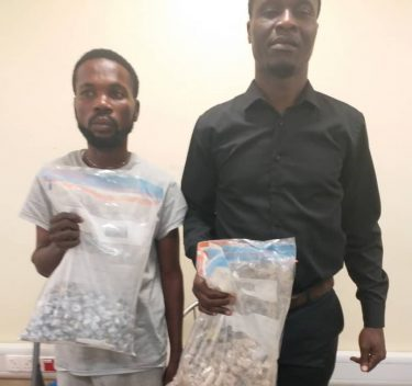 Two of the drug trafficking suspects nabbed by NDLEA