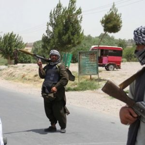 Taliban militants on the streets in Afghanistan