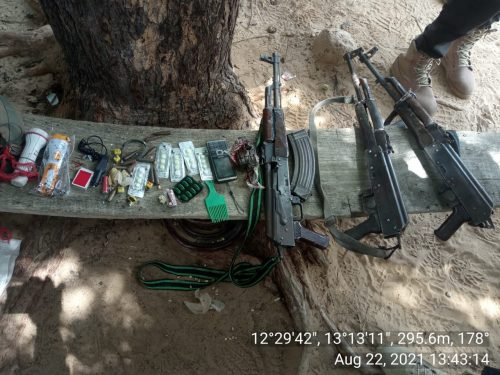 Weapons recovered by the Multinational Joint Task Force
