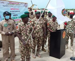 COAS officially flagging-off special welfare flight for personnel of Operation Hadin kai in Maiduguri on Monday