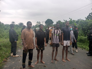 Four suspects who allegedly kidnapped and killed Pastor Friday Olakada, General Overseer of God is God Ministries, Agbonchia,Eleme,Eleme LGA,Rivers.