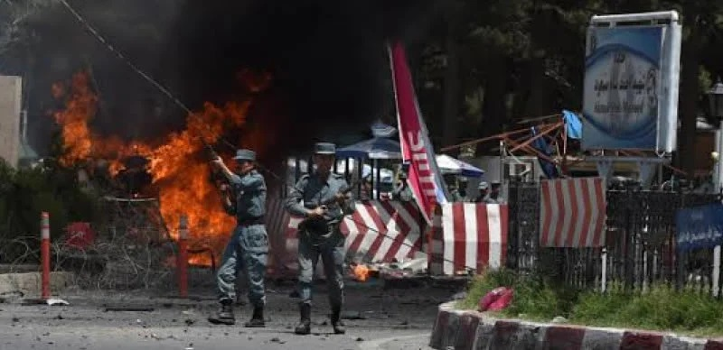 Chaos at the scene of last Thursday's explosion outside Kabul Airport: Many Afghan, American troops died in the blast