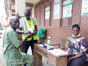 Voter at the polling unit during the run off election