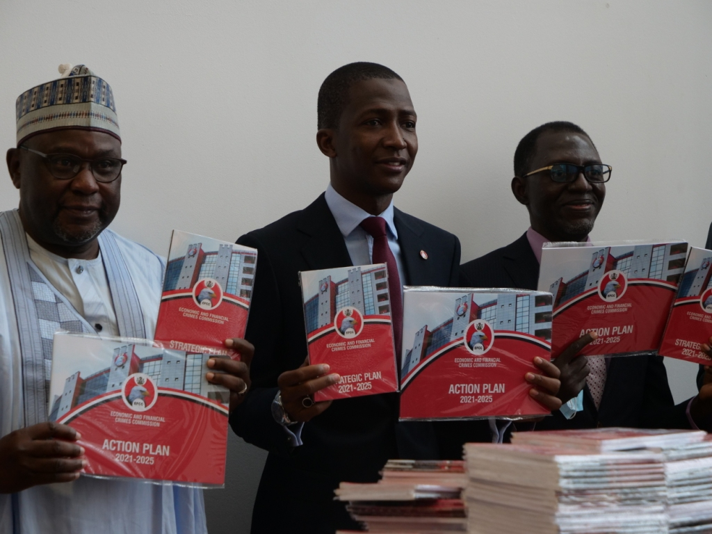 EFCC Chairman Bawa presenting the strategic plan and action plan