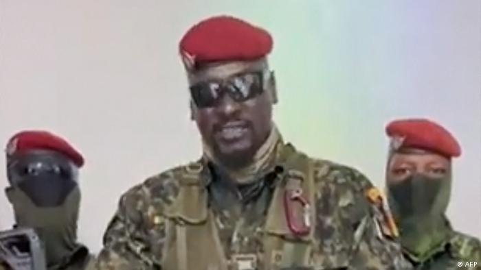 Former French legionnaire, Mamady Doumbouya: said to be behind the unrest