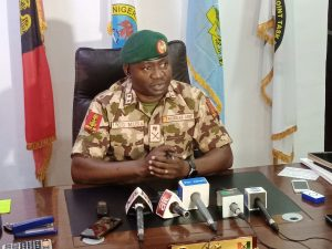 The Theatre Commander, Joint Task Force (North East) Operation Hadin Kai, Maj.-Gen. Christopher Musa