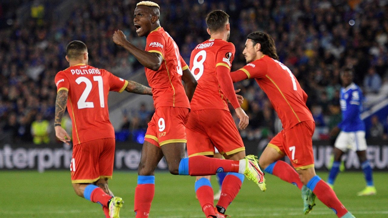 Victor Osimhen: denies Leicester the perfect start in the Europa League as Napoli hit back from 2-0 down to snatch a point