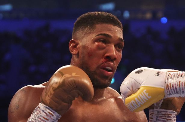 Joshua's eye battered by Oleksandr Usyk of Ukraine who defeated him to claim the WBA, IBF and WBO titles after he was given the nod by all three judges.