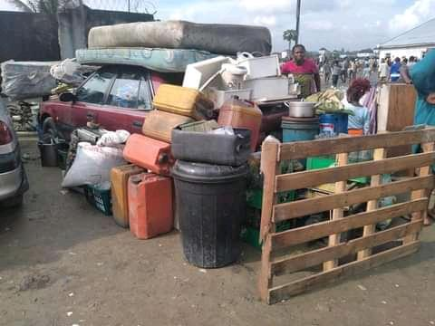 Property of some of the residents displaced by demolition in Npogu community