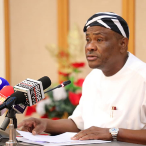 Rivers State Governor Nyesom Ezenwo Wike, in a state wide broadcast on Monday