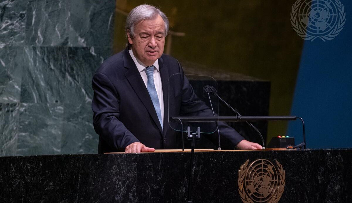Guterres said this at the opening of the General Debate of the 76th session of the General Assembly at the UN headquarters on Tuesday, in New York.