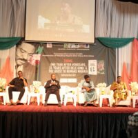 Panel of discussants at the parley tagged 'One Year After #EndSARS, 35 years After Dele Giwa And The Quest To Remake Nigeria held at NECA House, Alausa, Ikeja in Lagos on Tuesday, 19 October 2021.